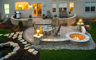 Outdoor Fire Pit And Patio Denver CO