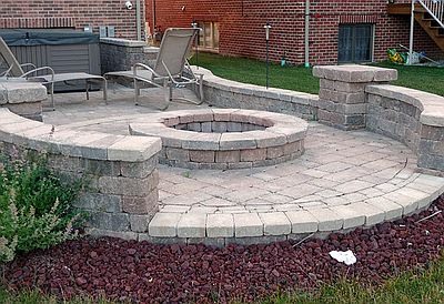 Great Paver Patio With Fire Pit Denver CO